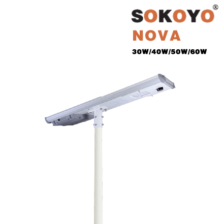 Đèn đường năng lượng mặt trời liền thể SOKOYO NOVA (30W, 40W, 50W, 60W)