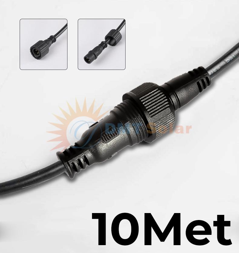 Dây nối 10m đèn năng lượng mặt trời 02 chấu DMT-DN10A