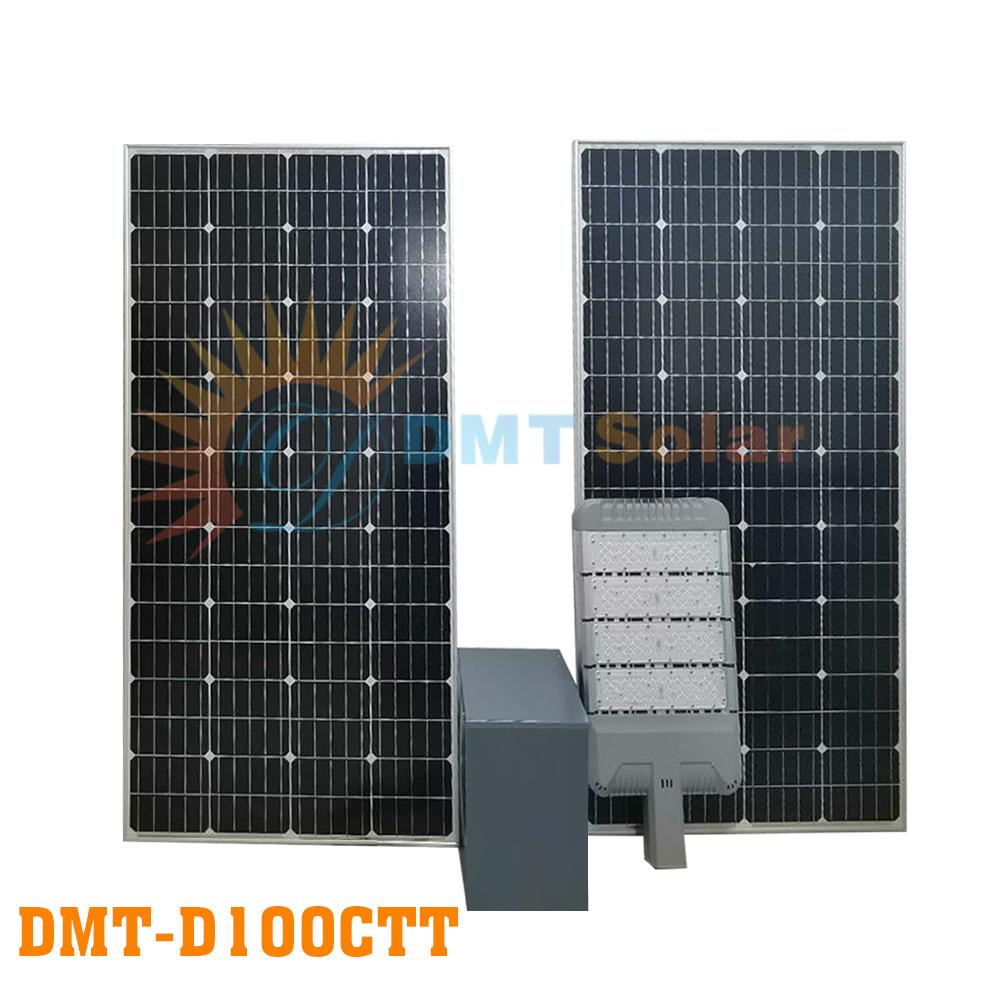 Đèn đường NLMT đủ công suất 100W DMT-D100CTT (Mono - Led Phillip - MPPT)