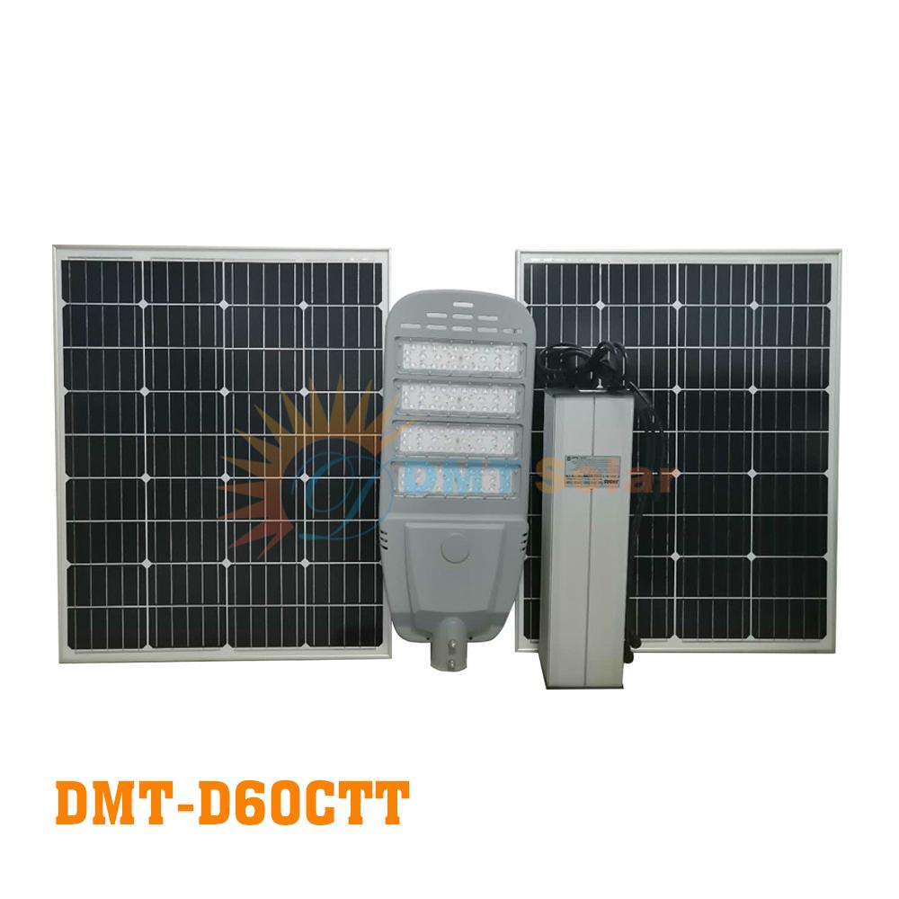 Đèn đường NLMT đủ công suất 60W DMT-D60CTT (Mono - Led Phillip - MPPT)