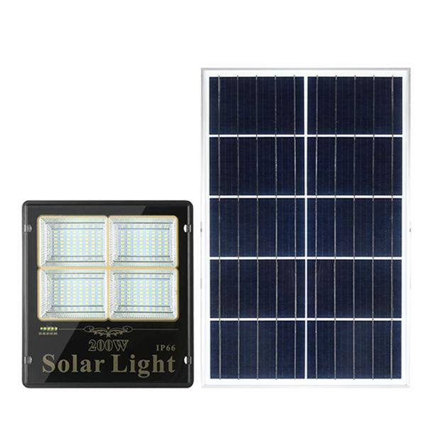 Đèn pha năng lượng mặt trời 200W giá rẻ DMT-P200LTR