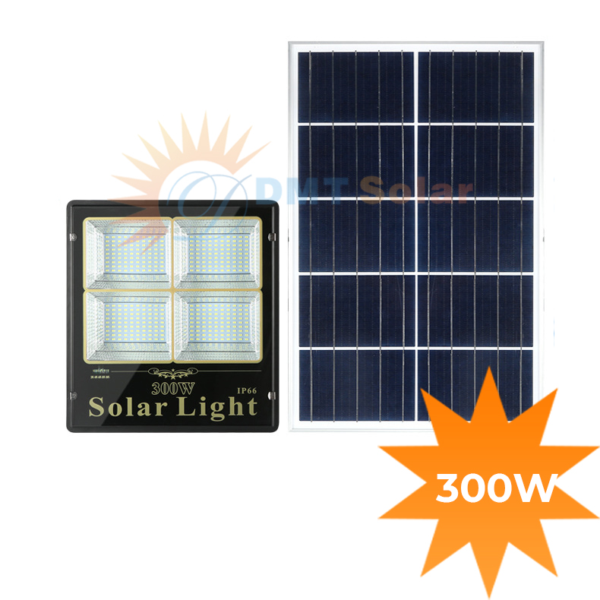 Đèn pha năng lượng mặt trời 300W giá rẻ DMT-P300LTR