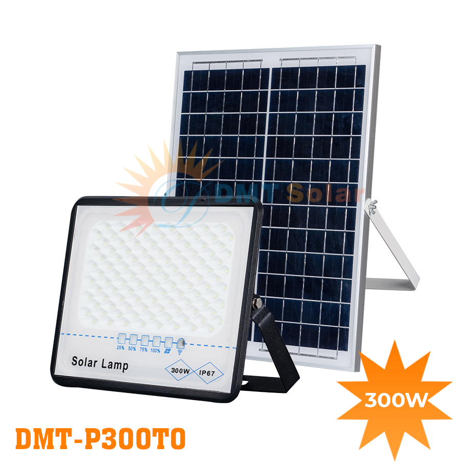 Đèn pha năng lượng mặt trời chống chói trong nhà 300W DMT-P300TO