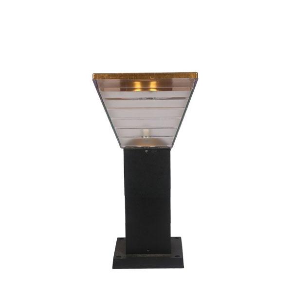 Đèn trụ sân vườn vuông năng lượng mặt trời trang trí biệt thự DMT-TS04N