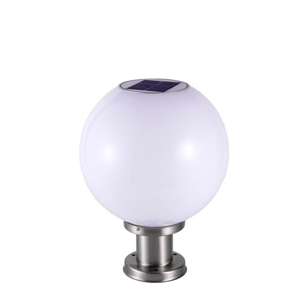 Đèn trụ cổng tròn năng lượng mặt trời DMT-TC02M (30x30)