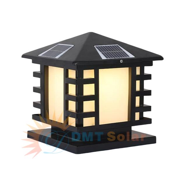 Đèn trụ cổng vuông năng lượng mặt trời DMT-TC08M-2
