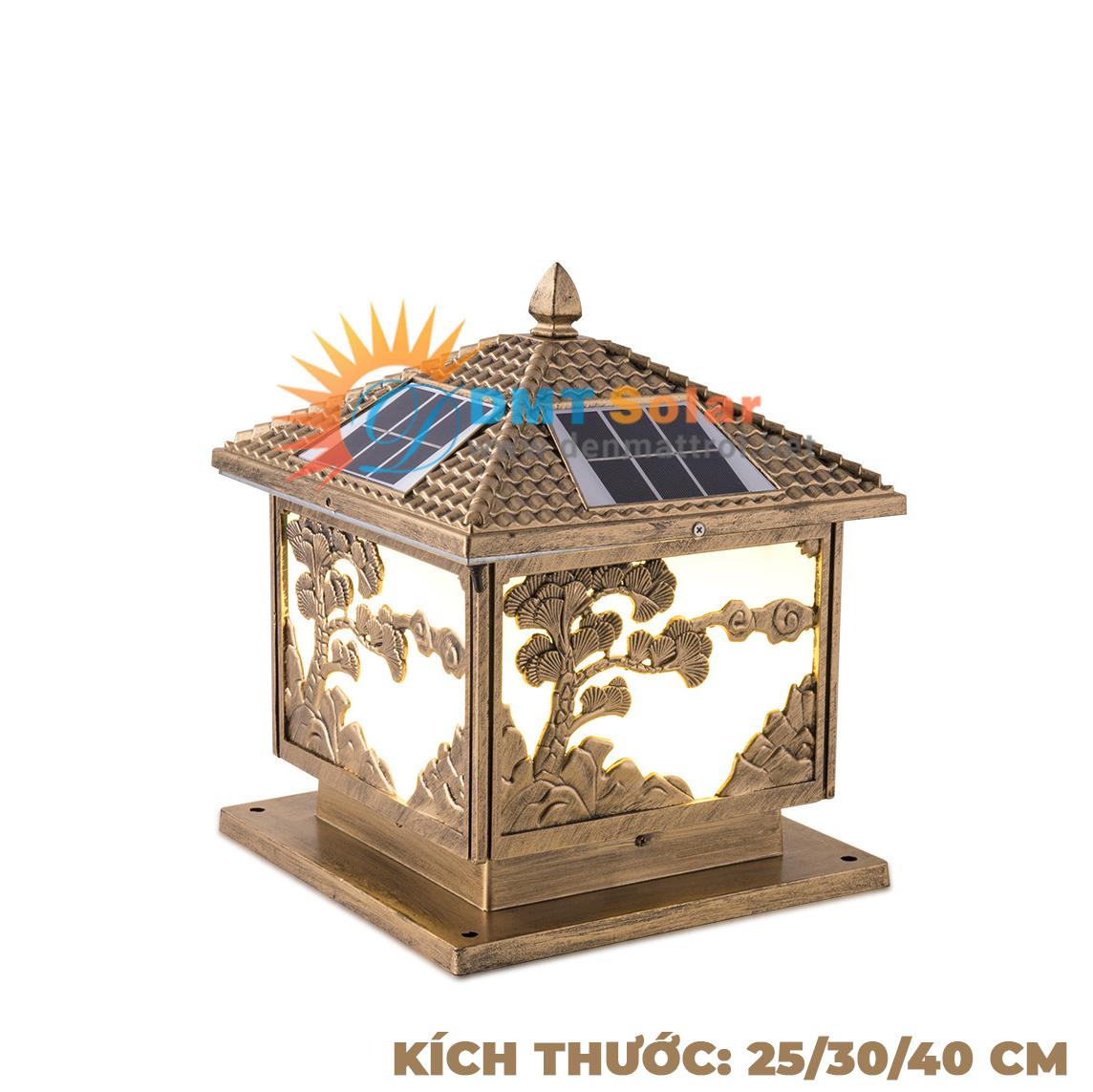 Đèn trụ cổng năng lượng mặt trời DMT-TC06 (Nhiều kích thước)