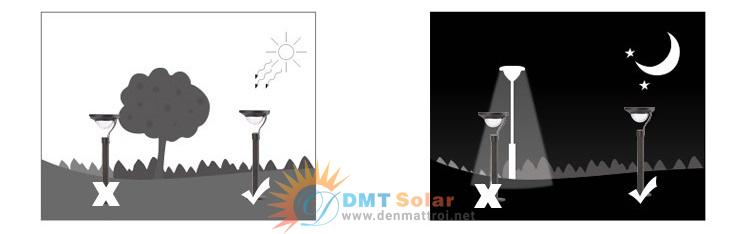 Lắp đặt đèn trụ sân vườn năng lượng mặt trời