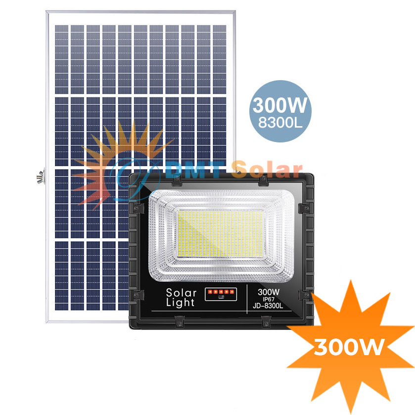 Đèn năng lượng mặt trời siêu sáng 300w JD-8300L