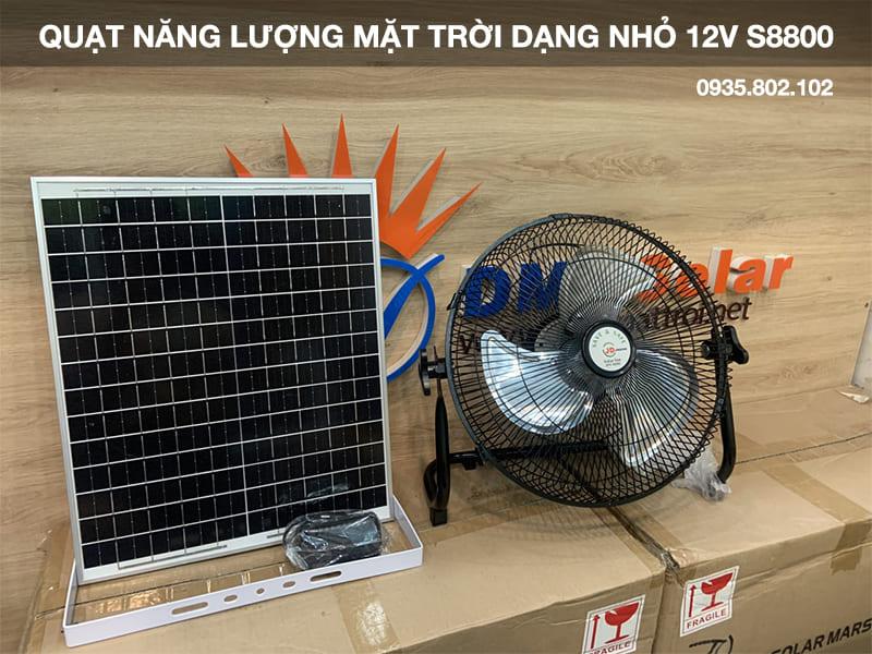 quạt năng lượng mặt trời dạng nhỏ