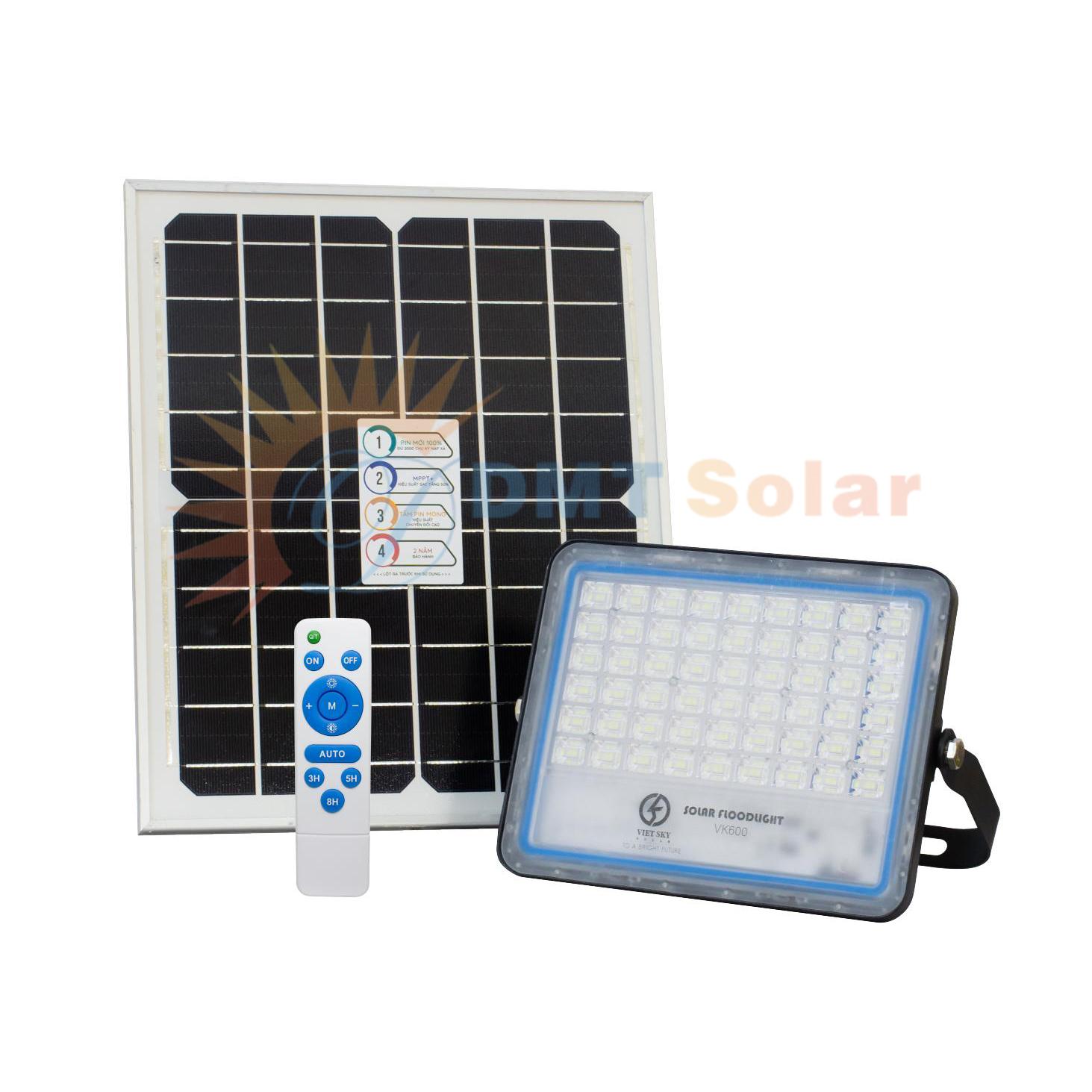 Đèn năng lượng mặt trời chống chói trong nhà 60W [VK600B]